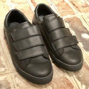 Zara men black strapped sneakers